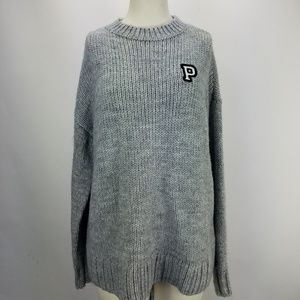 VS PINK Grey Oversized sweater